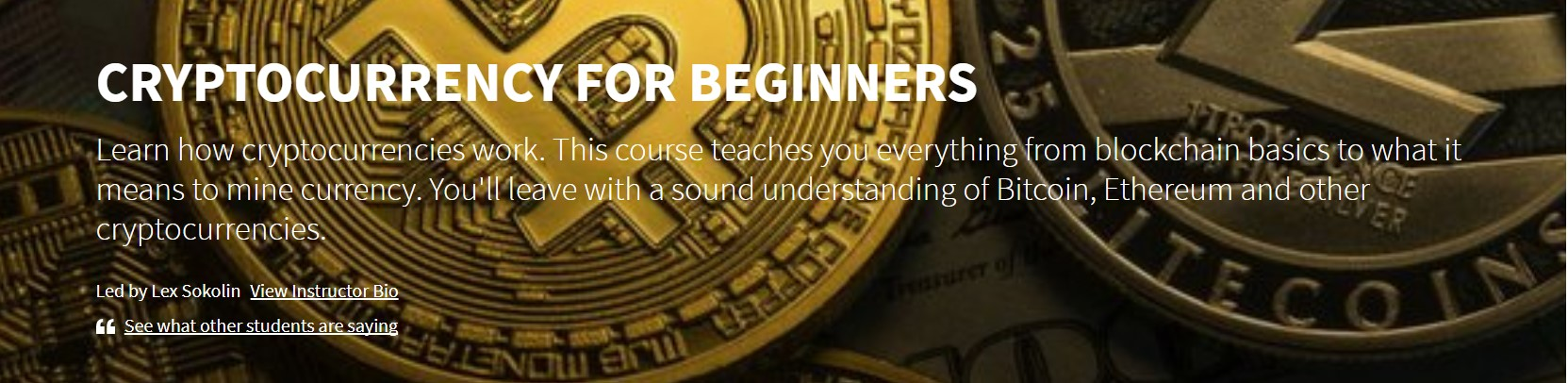 Cryptocurrency For Beginners Course