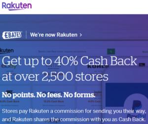Rakuten Ebates Cashback Program