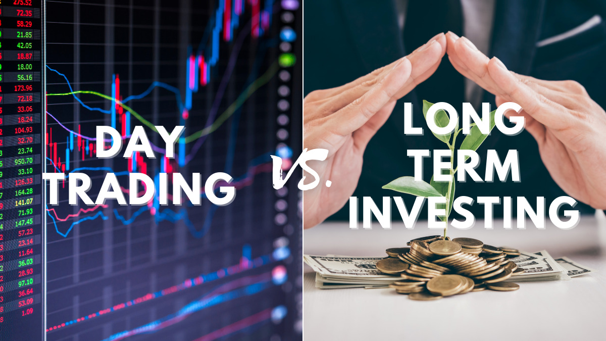 Compare day trading and long term investing