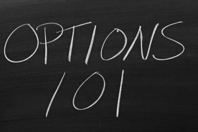 """A chalkboard that says """"Options 101"""""""
